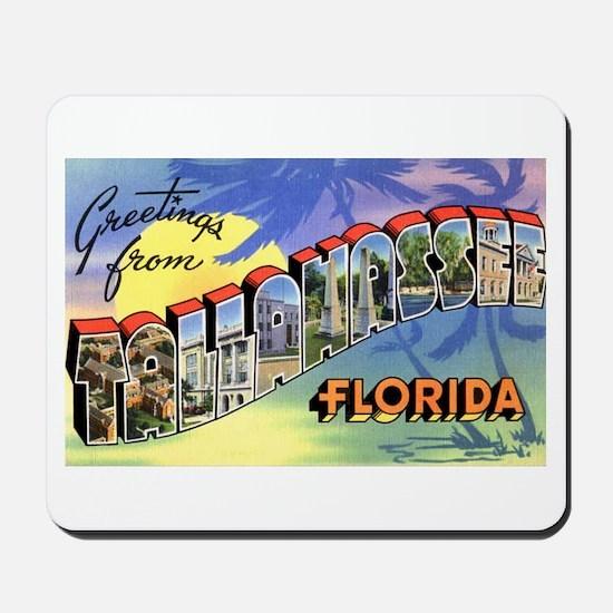 Tallahasse Florida Greetings Mousepad