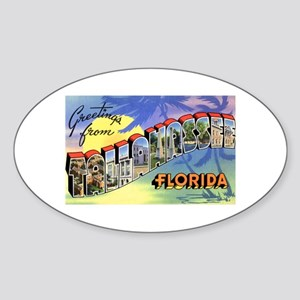 Tallahasse Florida Greetings Oval Sticker