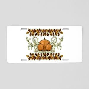 Autumn Bounty Aluminum License Plate