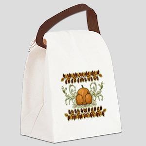 Autumn Bounty Canvas Lunch Bag