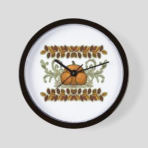 Autumn Bounty Wall Clock