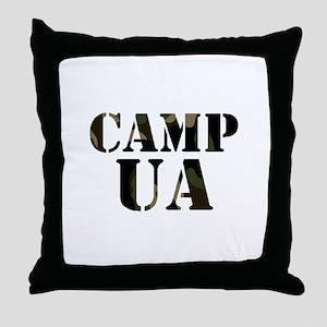 Camp UA Throw Pillow