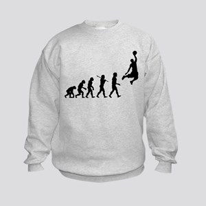 Basketball Evolution Jump Kids Sweatshirt