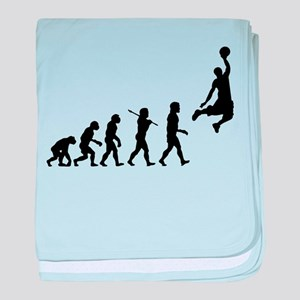 Basketball Evolution Jump baby blanket