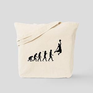 Basketball Evolution Jump Tote Bag