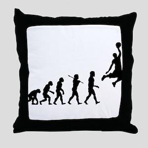 Basketball Evolution Jump Throw Pillow