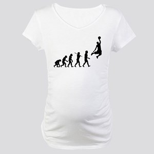Basketball Evolution Jump Maternity T-Shirt