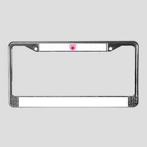 Cute Pink Pig License Plate Frame