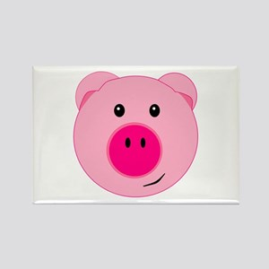 Cute Pink Pig Rectangle Magnet