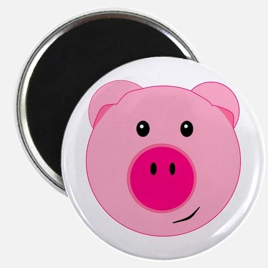 "Cute Pink Pig 2.25"" Magnet (10 pack)"