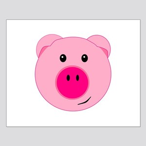 Cute Pink Pig Small Poster