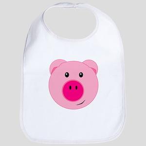 Cute Pink Pig Bib