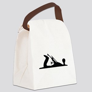 Hand Plane Silhouette Canvas Lunch Bag