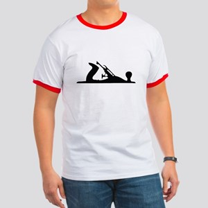 Hand Plane Silhouette Ringer T T-Shirt