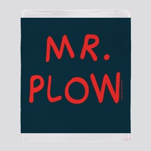 Mr Plow Throw Blanket