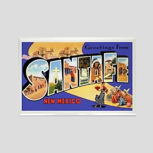 Santa Fe New Mexico Greetings Rectangle Magnet