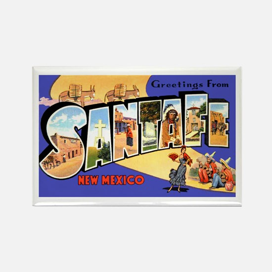 Santa Fe New Mexico Greetings Rectangle Magnet