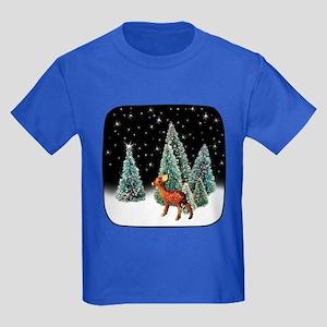 Deer Starry Night Kids Dark T-Shirt