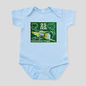 1976 Germany Bottom Sword Guppy Stamp Infant Bodys