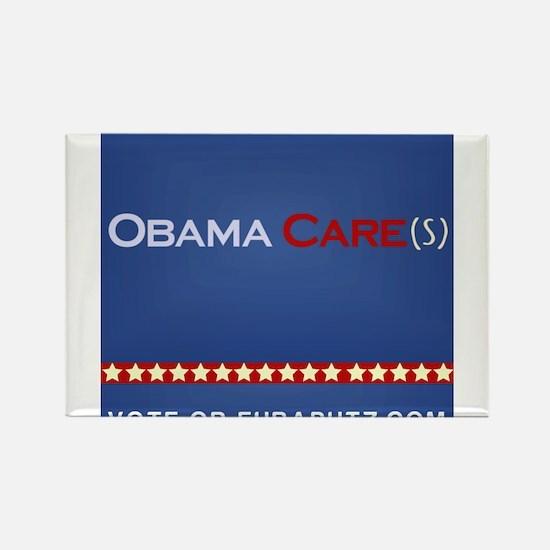 Obama Cares. by Euraputz Rectangle Magnet