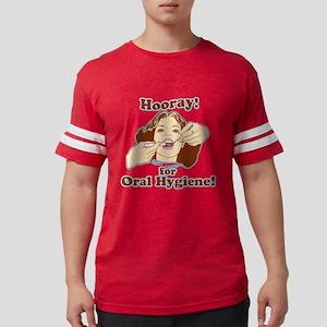 Hooray for Oral Hygiene Retro  Mens Football Shirt
