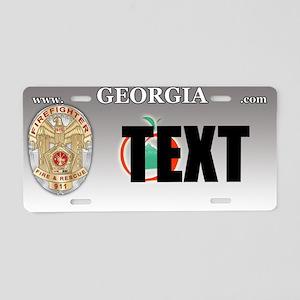 Georgia Firefighter Custom License Plate