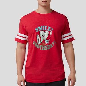 SmileItsToothsday Mens Football Shirt