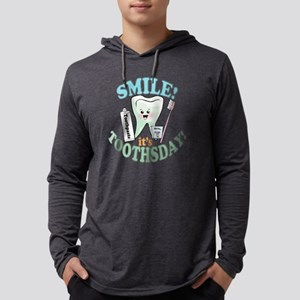 SmileItsToothsday Mens Hooded Shirt