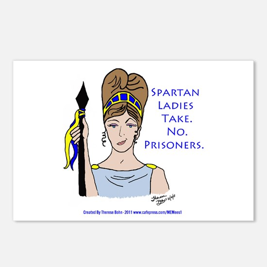 Spartan Ladies Take No Prisoners! Postcards (Packa