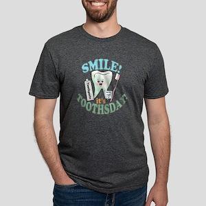 SmileItsToothsday Mens Tri-blend T-Shirt