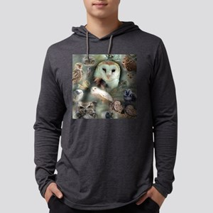 Happy Owls Mens Hooded Shirt