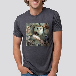 Happy Owls Mens Tri-blend T-Shirt
