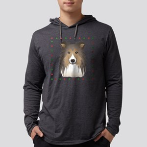 Shetland Sheepdog Mens Hooded Shirt