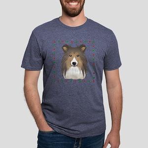 Shetland Sheepdog Mens Tri-blend T-Shirt