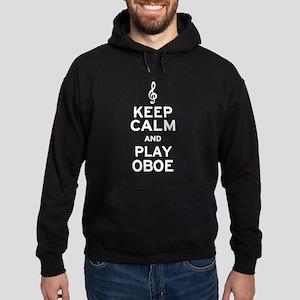 Keep Calm Oboe Hoodie (dark)