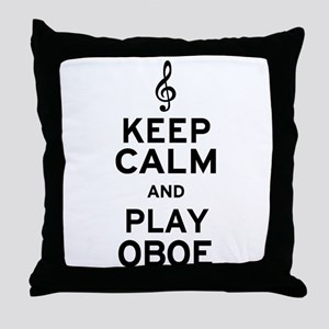 Keep Calm Oboe Throw Pillow