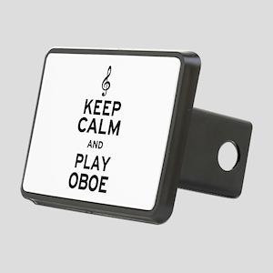 Keep Calm Oboe Rectangular Hitch Cover
