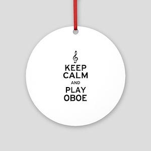 Keep Calm Oboe Ornament (Round)