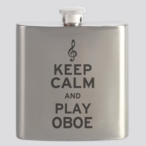 Keep Calm Oboe Flask