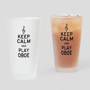 Keep Calm Oboe Drinking Glass