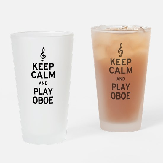 Keep Calm Oboe Drinking Glass