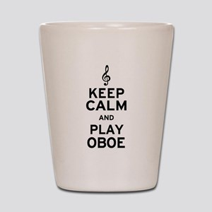 Keep Calm Oboe Shot Glass