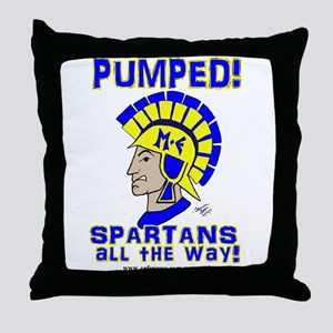 PUMPED SPARTANS ALL THE WAY! Throw Pillow