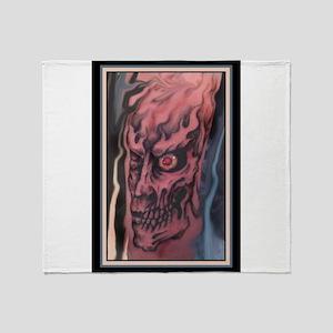 Zombie Tattoo Throw Blanket