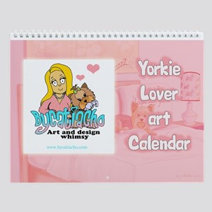 Yorkie Lover Art Wall Calendar