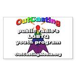 OutCasting - OCMedia Sticker (Rectangle 10 pk)