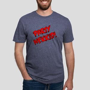 Party Nekkid - Red  Black.p Mens Tri-blend T-Shirt