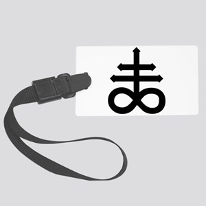 Hermetic Alchemical Cross Large Luggage Tag
