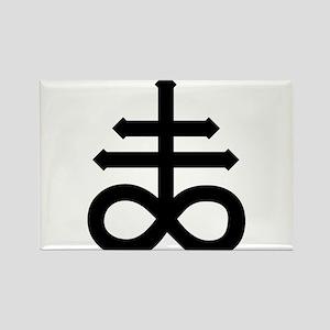 Hermetic Alchemical Cross Rectangle Magnet
