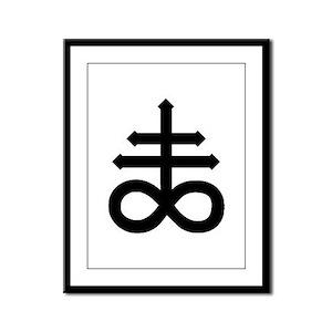 Hermetic Alchemical Cross Framed Panel Print
